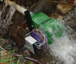 Micro-hydro generator producing electricity