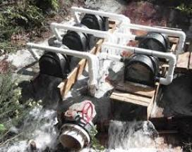 Micro-hydro system in action